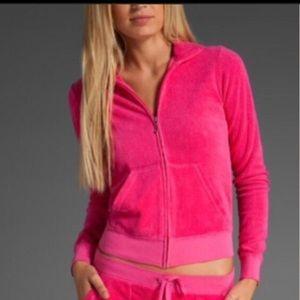 Juicy Couture Zip up Sweatshirt Hoodie Terry